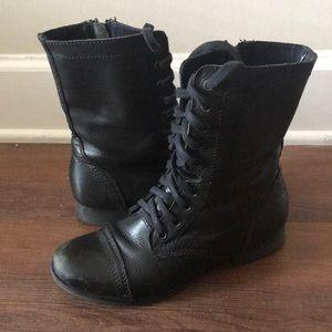 Steve Madden Black Troopa Boots. Size 8
